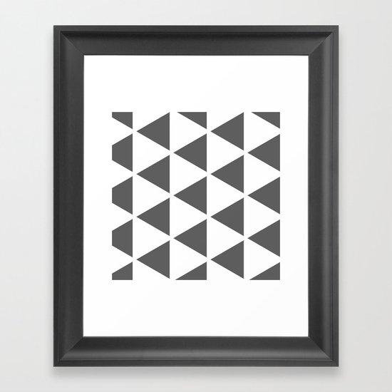 Sleyer Dark Grey on White Pattern Framed Art Print