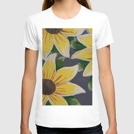 Handmade Sunflower Painting T-shirt