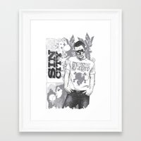 sin city Framed Art Prints featuring Sin city by Tshirt-Factory
