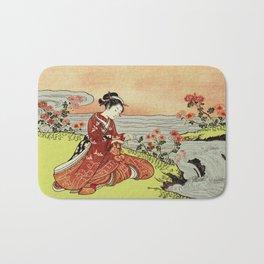 Transformation of Kikujido - Vintage Japanese Woodblock Bath Mat