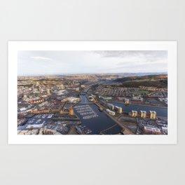 River Tawe in Swansea city Art Print