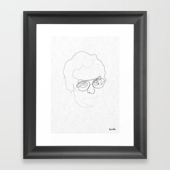 One line Michael Caine Framed Art Print