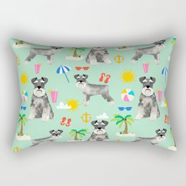 Schnauzer dog breed summer tropical dog pattern gifts schnauzers Rectangular Pillow