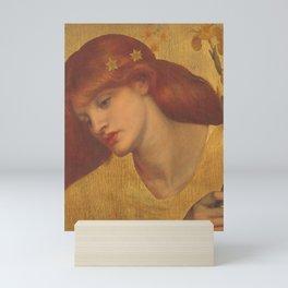 Dante Gabriel Rossetti Sancta Lilias 1874 Mini Art Print