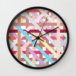 Structural Weaving Lines Wall Clock