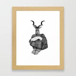 John (B&W) Framed Art Print