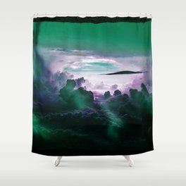 I Want To Believe - Aqua Shower Curtain