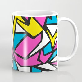 Abstract geometric pattern in 80th style Coffee Mug
