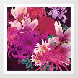 Magnolia and Chrysanthemum Art Print