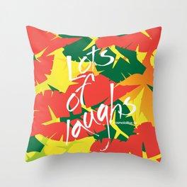 Tropical Spring Throw Pillow