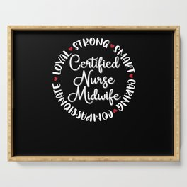 Certified Nurse Midwife Gifts Nurses Love Serving Tray