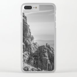 Rocky landscape Clear iPhone Case