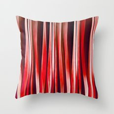 Impulsive Adventure Red Striped Abstract Pattern Throw Pillow