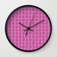 damask Wall Clocks featuring Damask by Apple Kaur