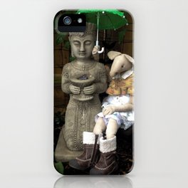Miss Mouse and Garden Buddha iPhone Case