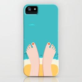 Feet on Beach iPhone Case