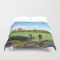 central park Duvet Covers featuring central park  by MF photo works