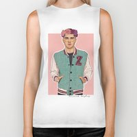 zayn Biker Tanks featuring Zayn varsity by Coconut Wishes