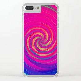 Bermuda Swirl Clear iPhone Case