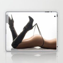Sexy Woman Black Leather Boots and Thong Laptop & iPad Skin
