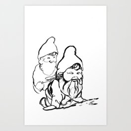 Gnomely playing  Art Print