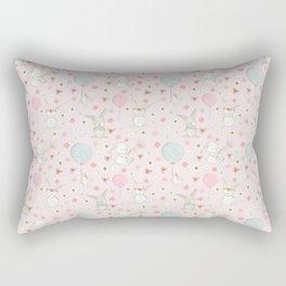 Easter bunnies and balloons - pink Rectangular Pillow