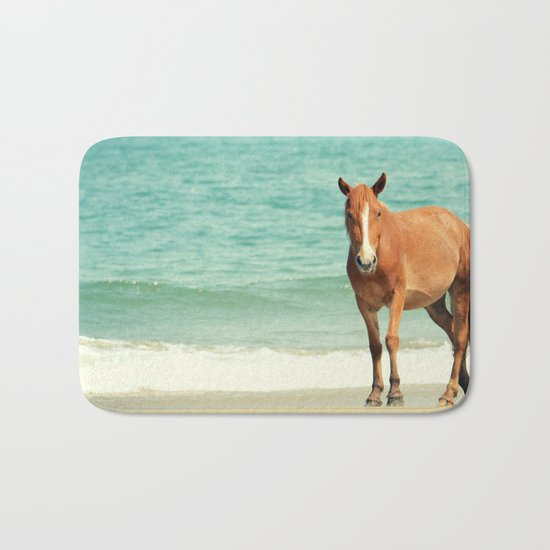 Wild Mustang of Carova, NC Bath Mat