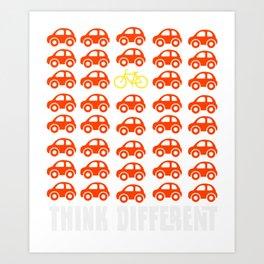 Think Different - Vintage Retro Biking T-Shirt Art Print