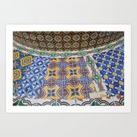 mexican Art Prints featuring Mexican Tiles by Renee Trudell