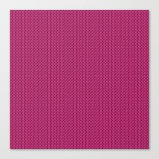 Knitted spring colors - Pantone Pink Yarrow Canvas Print