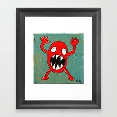 Tomato Monster Framed Art Print