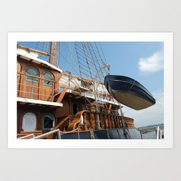 The Peacemaker, Boat in Air, MA Art Print