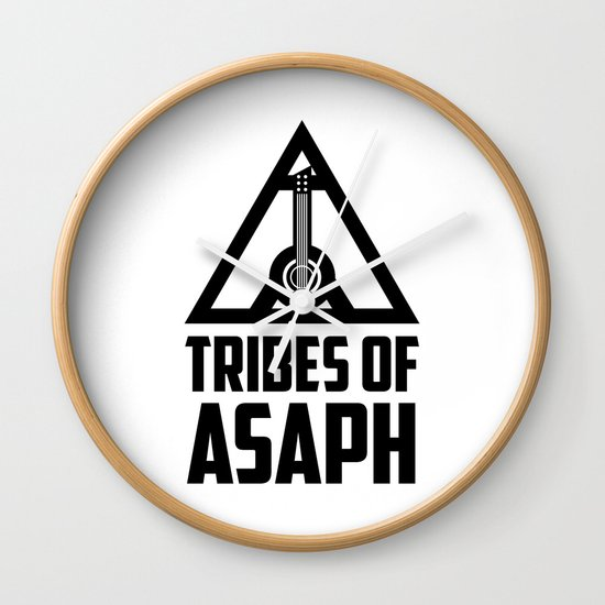 Tribes Of Asaph (Black on light) Wall Clock