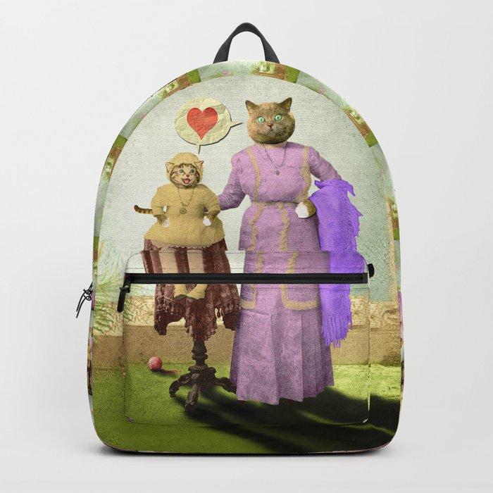 Momma Kitty Loves Her Kitten Backpack