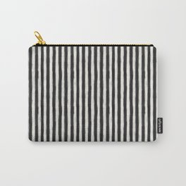 geo brush stripe vertical Carry-All Pouch