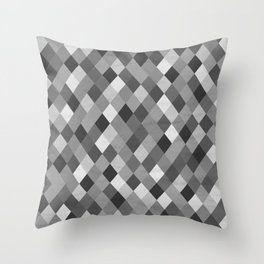 Black and White Harlequin Throw Pillow