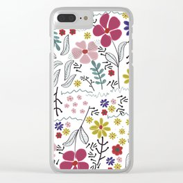 Colorful Vibrant Color Background Clear iPhone Case
