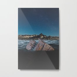 Sunken Ship Metal Print