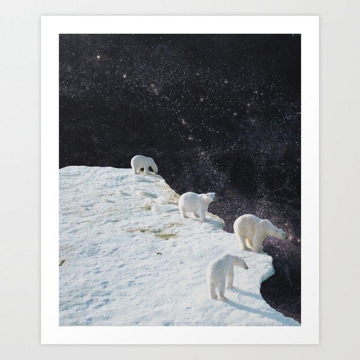 Flat Earth Art Print