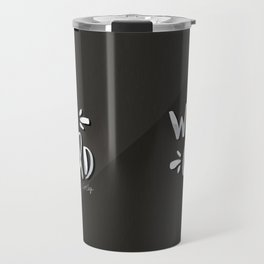 Wild Child – White on Black Palette Travel Mug
