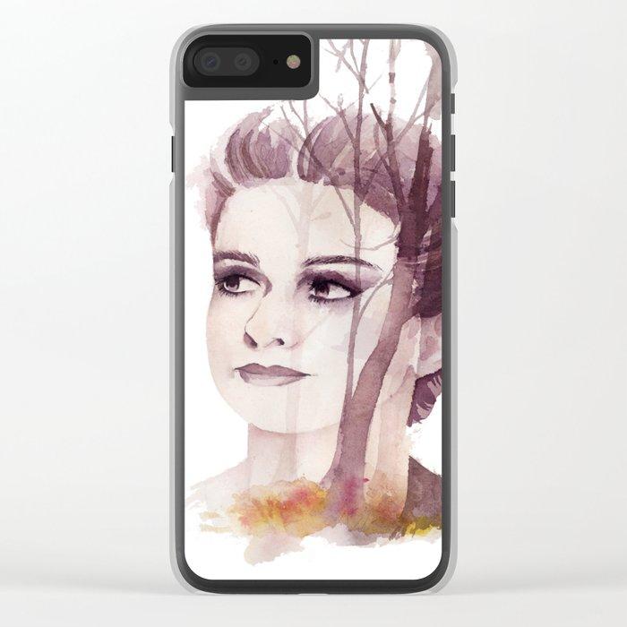 born beneath the autumn sky Clear iPhone Case