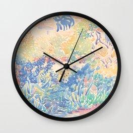 The Artist's Garden at Saint-Clair by Henri-Edmond Cross 1904-5, French Wall Clock