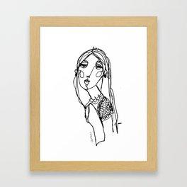 LINA {Seafoam} Framed Art Print