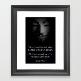 Men in a Mask Framed Art Print