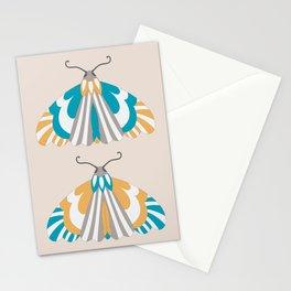 Moths - Blue and Orange Stationery Cards