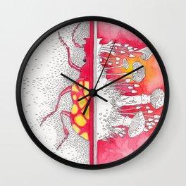 What is Death? Beetle / Mushroom Symbiosis Wall Clock