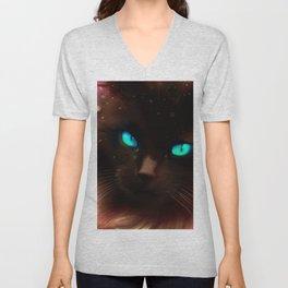 Cute Black Cat Unisex V-Neck