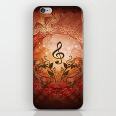 Music, clef with iPhone & iPod Skin