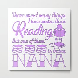 Reading Nana Metal Print