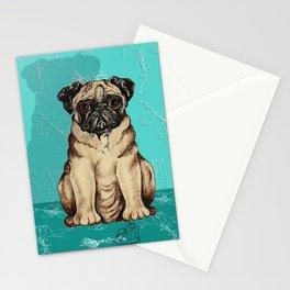 Pugs - by Nina Lyman of Dogs By Nina Stationery Cards